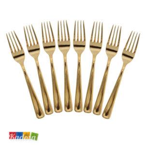 Forchette Plastica ORO Eleganti e Robuste Set 8 pz - Kadosa