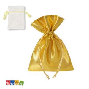 Bustine Organza Porta Confetti con lato ORO - Kadosa