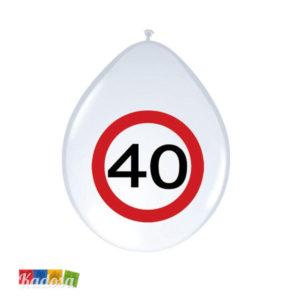 Palloncini 40 Anni segnale stradale - Kadosa