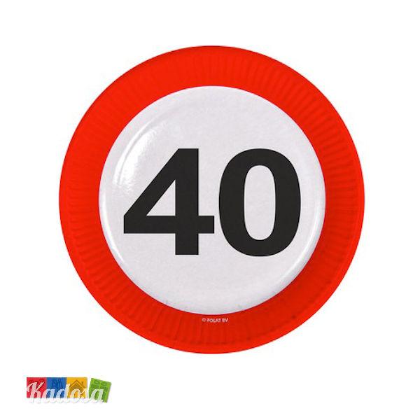 8 Palloncini 40 Anni Segnale Stradale Happy Birthday Buon Compleanno