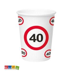 Bicchieri 40 Anni segnale stradale - Kadosa