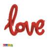Palloncino Scritta LOVE Foil Colore Rosso 102 cm - Kadosa