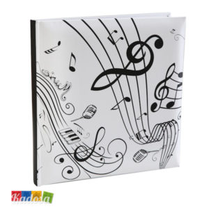 Guest Book Tema Musicale con 22 Pagine Bianche - Kadosa