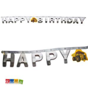 Banner Happy Birthday Lavori in Corso - Under Construction
