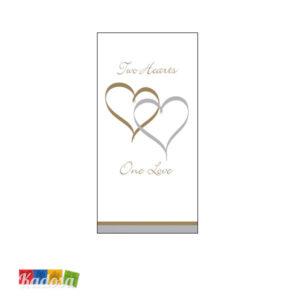 Fazzoletti di Carta LOVE Oro e Argento Confezione da 10 pz - Kadosa