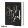 Guest Book Matrimonio Nero e scritta ORO - Kadosa