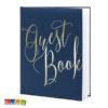 Guest Book Matrimonio Blu e scritta ORO - Kadosa