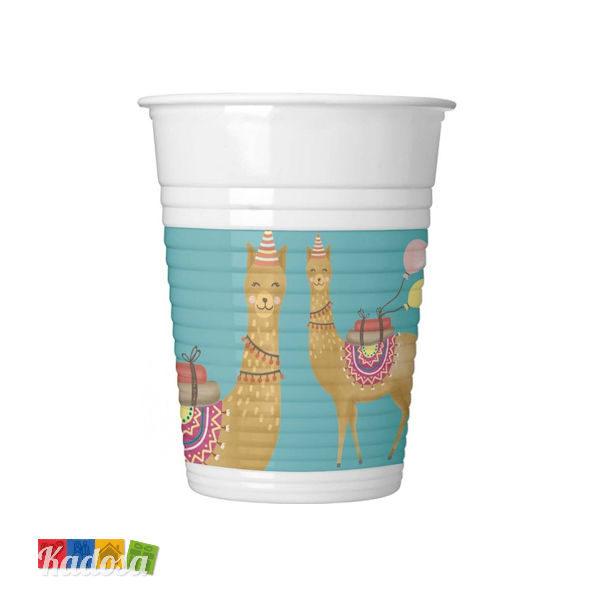 8 Bicchieri LLAMA lama - Kadosa