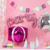 palloncino Scritta PARTY Foil Rosa - Kadosa