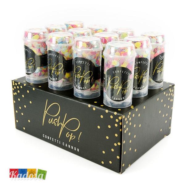 Mini SparaCoriandoli PUSH POP Multicolor - Kadosa