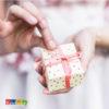 Box Porta Confetti POIS Crema con Pois Sparsi Oro Set 10 pz - Kadosa