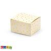 Box Porta Confetti POIS Crema con Pois Sparsi Oro Set 10 pz PUDP25-081J - Kadosa