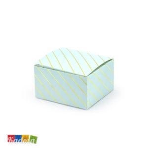 Scatola portaconfetti caramelle azzurro oro festa compleanno thank you matrimonio battesimo cresima confetti PUDP26-001J_01 - Kadosa