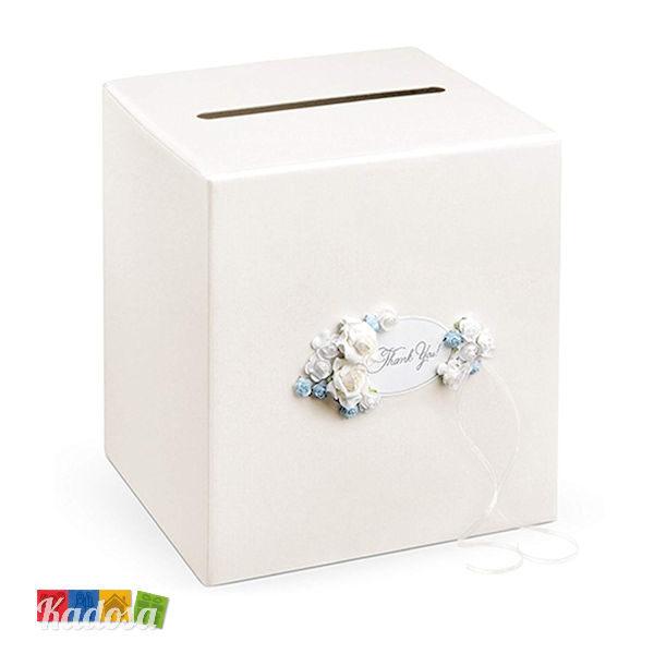 Gift Box Matrimonio Avorio con Decorazioni Rose - Kadosa