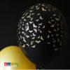 Palloncini Halloween Neri con Pipistrelli Oro - Kadosa