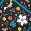 Tovaglioli Black Flower - Kadosa