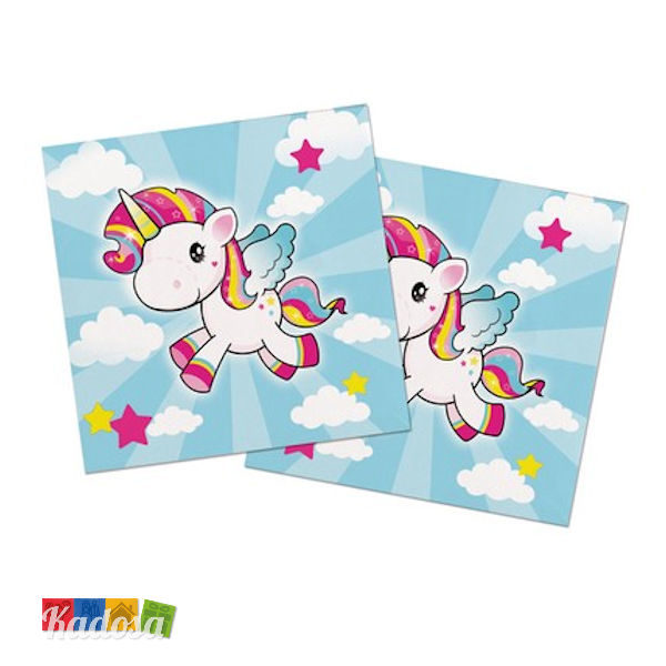 Tovaglioli Unicorno mini pony - Kadosa