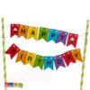 Cake Topper bandierine Happy Birthday - Kadosa