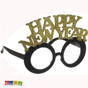 Occhiali Happy New Year oro - Kadosa