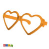 Occhiali Party Giganti Cuore Arancione - Kadosa