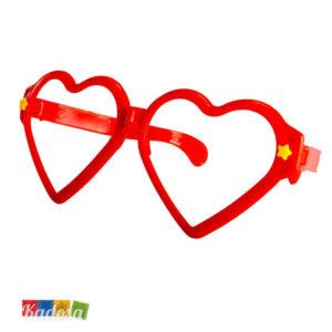 Occhiali party giganti cuore rosso - kadosa