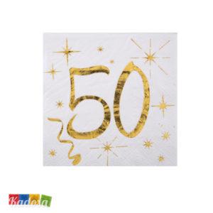 Tovaglioli 50 anni ORO - Kadosa