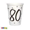 Bicchieri di carta Party 80 anni - Kadosa