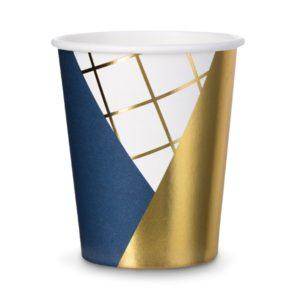 Bicchieri di Carta BLU Gold Party compleanno festa fashion buon anno new year capodanno eleganti elegant spazio astronauta bambini adulti KPP18 - Kadosa