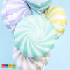 Palloncino Lollipop Foil Tiffany Grande 45 cm Stampa Spirale Caramella Tondo Chupa Chups Lecca Lecca Festa a Tema Birthday Compleanno Matrimonio Wedding FB20P-103 Kadosa