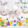Palloncino Gigante Trasparente con Coriandoli Colorati all'Interno confetti multicolor BK36-1-000_01