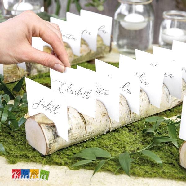 Segnaposto Tavolo Matrimonio.Segnaposto Tronco Legno Naturale Di Betulla Con 10 Intagli Kadosa
