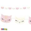 Ghirlanda Gatto - Banner gatti gattini miao meow micini rosa bianchi compleanno festa a tema bambini allestimentoparty - GL11
