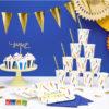 20 Tovaglioli di Carta BLU Navy 3 veli di cara capodanno festa party compleanno eleganti spazio space napkins SP33-1-074 - Kadosa