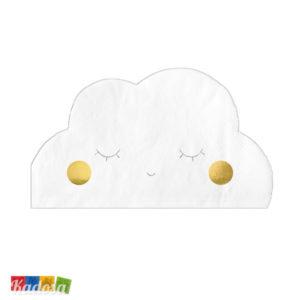 20 Tovaglioli Nuvola Tovaglioli carta Nuvola cloud occhietti festa compleanno party nuvoletta cielo aereo pilota aeroplano SPK1 - Kadosa