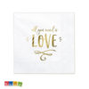 20 Tovaglioli All You Need is LOVE carta bianchi scritta Oo All you Need is Love Amore Matrimonio Fidanzamento Anniversario SP33-75-008-019 - Kadosa