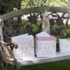 Guest Book COUNTRY CHIC Bianco e Rosa Stile Provenzale - Kadosa