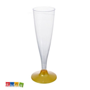 Calici Flute Base Oro Ideali per Aperitivi o Finger Food Set 4 pz - Kadosa