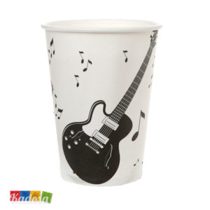 Bicchieri MUSIC PARTY Tema Musicale Set 10 pz - Kadosa
