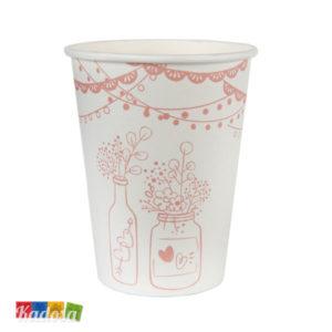Bicchieri COUNTRY CHIC Bianchi e Rosa Stile Provenzale 10 pz - Kadosa