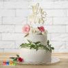 Cake Topper Mr & Mrs Sposo Sposa Matrimonio Sposi Wedding torta Nuziale Nozze d'Oro 50 Anni - KPT10-019M - Kadosa