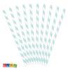 Cannucce Carta Spirale Azzurre da 19,5 cm in Blister Set 10 pz - Kadosa Cannucce di Carta a Spirale Azzurre Set 10 pz - 19,5 cm Paper Straws Cannuccia Azzurra Azzurro Festa di COmpleanno Tema Azzurro Battesimo - SPP1-001J - Kadosa