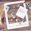 Set Photobooth BEST WEDDING con Cornice e Accessori Inclusi set accessori oro Polaroid Bacio Romantico Amore Love Matrimonio Selfie Selfiebooth Scatti Romantici - PBF2 - Kadosa