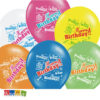 Palloncini Happy Birthday Colorati Multicolor Compleanno Festa Scritta Elio 18 20 30 40 50 60 70 Anni Stron Ballons Biodegradabili SB14P-254-000 - Kadosa