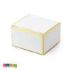 Scatole Porta Confetti Bianche e Oro Metallico Set 10 pz - Kadosa
