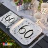 Set 60 anni elegant compleanno elegante nero bianco birthday party festa allestimento tavola - Kadosa