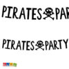 Ghirlanda Pirate Party Set Pirati - Banner teschio festa a Tema compleanno pirata nero Festone Striscione - GRL86-010 - Kadosa