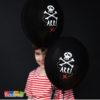Palloncini PIRATI Neri con Stampa Teschio Biodegradabili 6 pz Set Pirati Pirata Teschio Festa a Tema Compleanno Party Neri SB14P-297-010 - Kadosa