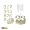 Set Candeline Oro con Numeri da 0 a 9 per Compleanno Set 8 pz Numero Intercambiabili 0 1 2 3 4 5 6 7 8 9 0 Festa Buon Compleanno Birthday Candele Torta 50 Anni Matrimonio Cinquantesimo Anniversario Nozze d'Oro - Kadosa