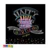 Tovaglioli BLACK BIRTHDAY Effetto Lavagna Decorazioni Gesso - Kadosa