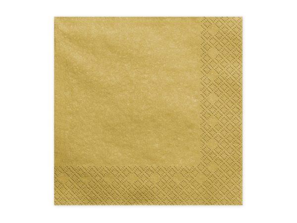 Tovaglioli di Carta Oro ad Effetto Metallico Confezione da 20 pz - Kadosa